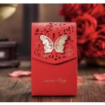 Red Gift box with butterfly