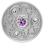 Birthstone February. Canada 5$ 2020 99,99% silver coin with Swarovski crystals, 7,96 g