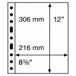 Grande postimerkki sivu 1S (216 mm x 150 mm) 5 sivua paketissa
