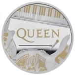 «Легенды музыки» -Queen Великобритания 5 £ 2020 г. 99,99% серебряная монета с позолотой. 1 унция