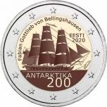 2 € юбилейная монета 2020 г. Эстония -200 лет со дня открытия Антарктиды