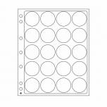 Plastikleht ENCAP 34/35 mm kapslis müntidele 2 lehte pakis
