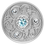 Birthstone March. Canada 5$ 2020 99,99% silver coin with Swarovski crystals, 7,96 g