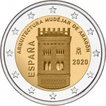 Spain 2€ commemorative coin 2020 - UNESCO's World Cultural and Natural Heritage Sites – Aragón and the Aragonese Mudejar architecture