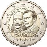 Luksemburgi  2020 a 2€ juubelimünt  - prints Henri 200. sünniaastapäev