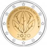 Belgia 2020.a. 2€ juubelimünt - rahvusvaheline taimetervise aasta 2020 (mündikaart)