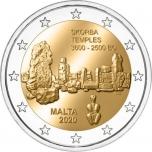 2 € юбилейная монета   2020 г. Мальта -Мегалитический храм Скорба
