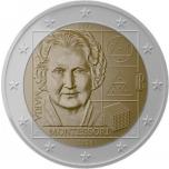 2 € юбилейная монета  2020 г. Италия - 150 лет со дня рождения Марии Монтессори