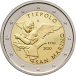 San Marino 2020 2 eur juubelimünt - Giovanni Battista Tiepolo 250. surma-astapäev
