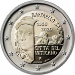 Vatikaanivaltio 2€ erikoisraha 2020 -  550 vuotta Rafaelin kuolemasta