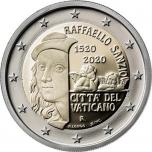 2 € юбилейная монета 2020  г.Ватикан  - 500-летие со дня смерти художника Рафаэля