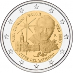 Vatikani 2 Eur 2020 juubelimünt -Paavst Johannes Paulus II 100. sünniaastapäev