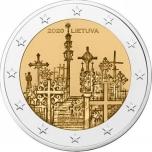 2 € юбилейная монета 2020 г. Литва -Гора Крестов
