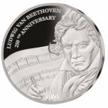 Людвиг ван Бетховен- Фиджи 1$ 2020 г. 99,9% серебряная монета, 31.1 г.