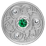 Sünnikuu õnnekivi. Mai - Kanada 5$ 2020.a. 99,99% hõbemünt Swarovski® kristallidega 7,96 g