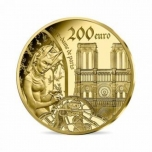 Готическая эпоха   - Франция 50 € 2020 г. 99,99% золотая монета, 1/4 унцй