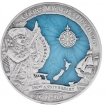 James Cook Discovery. 250th Anniversary.  Solomon Islands 10$ 2020  99,9% Silver Coin 3 Oz
