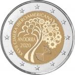 Andorra 2€ erikoisraha 2020 -Andorrassa järjestettävä 27. iberoamerikkalainen huippukokous