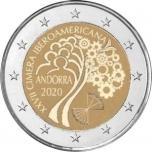 2 € юбилейная монета 2020 г.  Андорра  - XXVII Иберо-американский саммит в Андорре-2020