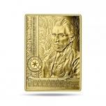 Muuseumi kollektsiooni meistriteosed. Vincent van Gohg Autoportree -  Prantsusmaa 50€ 2020.a.  1/4 untsine 99,9% kuldmünt
