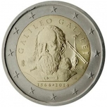 Italy 2€ commemorative coin 2014 - Galileo