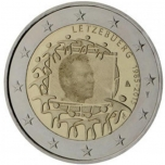 Luksemburgi  2015 a 2€ juubelimünt  - ELi lipu 30. aastapäev