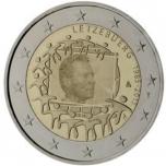 2 € юбилейная монета 2015 г. Люксембург - 30 лет флагу Европейского союза