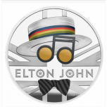 Elton John -  Music Legends  United Kingdom 2£ 2020 99,9% silver coin 31,1 g