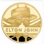 «Легенды музыки» - Элтон Джон Великобритания 25 £ 2020 г. 99,99% золотая монета.