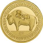 Pühvli aasta 2021 - Mongoolia 1000 Tugrikut 99,99 % kuldmünt - 0,5 g