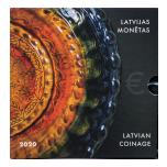 Годовой набор Евро монет Латвия 2020 года - Латгальская керамика. комплект