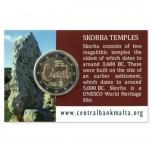 2 € юбилейная монета   2020 г. Мальта -Мегалитический храм Скорба (coin card)