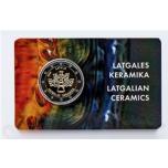 Läti 2020 a 2€ juubelimünt  - Latgale keraamika mündikaart