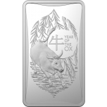 Lunar Year of the Ox 2021  - Australia  $1 2021  1/2oz 99,9% silver Ingot