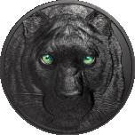 """""""Хищники ночью. Черная Пантера - Палау 1§ 2020.г. 99,99% серебрянная  монета99ста , 2 унции"""