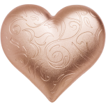 Rosy Heart Palau 5$ 2021 gilded 99,9% silver coin, 1 oz