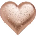 """""""Позолоченное сердце"""" - Палау 5$ 2021 г. 99,9% серебряная монета с позолотой. 1 унция"""
