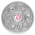 Birthstone October. Canada 5$ 2020 99,99% silver coin with Swarovski crystals, 7,96 g