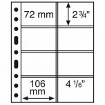 Лист GRANDE для купюр и открыток 4CT (72 x 150 mm)