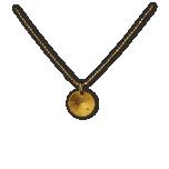 Золотая подвеска с бриллиантом и позолоченной серебряной цепочкой