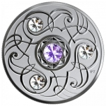 Birthstone December. Canada 5$ 2020 99,99% silver coin with Swarovski crystals, 7,96 g
