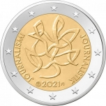 Finland 2€ commemorative coin 2021  - Finland Journalism and free press supporting Finnish democracy