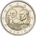 Luxembourg 2€ commemorative coin 2021 - The 100th anniversary of the Grand Duke Jean