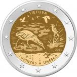 """Leedu 2021 a 2€ juubelimünt  -  UNESCO programm """"Inimene ja biosfäär"""" – Žuvintase biosfääri kaitseala"""