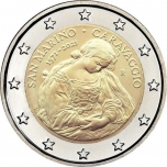 San Marino 2€ commemorative coin 2021 - 450th Anniversary of the Brith of Caravaggio