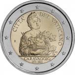 Vatican 2€ commemorative coin 2021 - 450th Anniversary of the Bith of Caravaggio