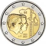 2 € юбилейная монета 2021 г.Бельгия  - 100-летие Бельгийско-Люксембургского экономического союза (Blister)