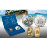 Tropical Pelican Set - Barbados 10$ gold coin and 1$ silver coin 2020 set