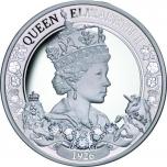 Kuningatar Elizabeth II 95 vuotta. Niue saarivaltio 1 $  2021 v. 99,9% hopearaha, 1 unssi