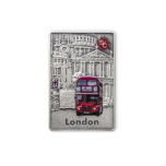 """Splash of Colour"" City Edition. London. Samoa 5$ 2021 Antique finish 99,9% silver coin, 2 oz"